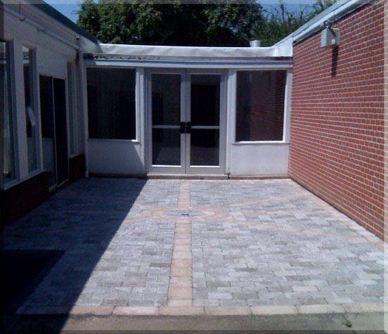 Improved School Entrance with Brick